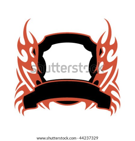 tattoo flame vector. abstract