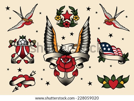 tattoo flash flash vector