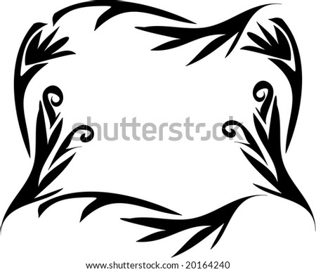 Tattoo Floral Design Vector