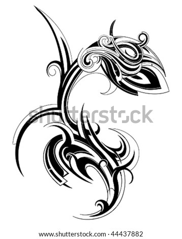stock vector Tattoo flower