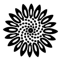 Tattoo flower icon. Simple illustration of tattoo flower vector icon for web design isolated on white background