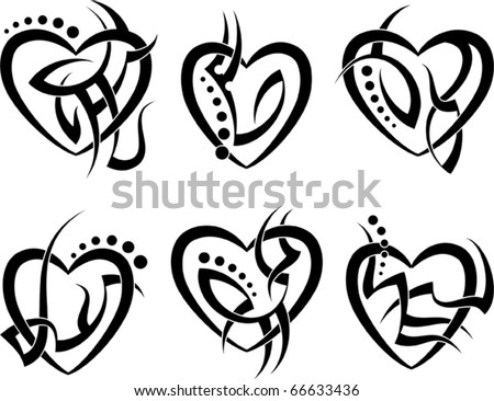 heart tattoo template download free vector art stock graphics Anatomically Heart Charm tattoo heart