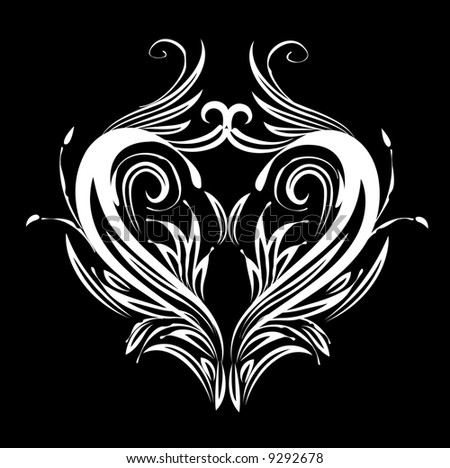 stock vector : Tattoo heart