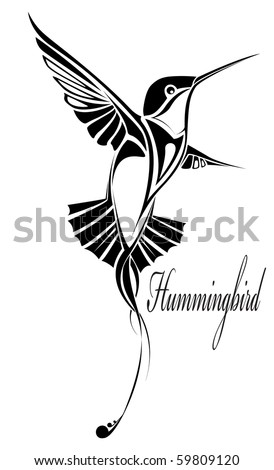 Tattoo Hummingbird Stock Vector 59809120 : Shutterstock