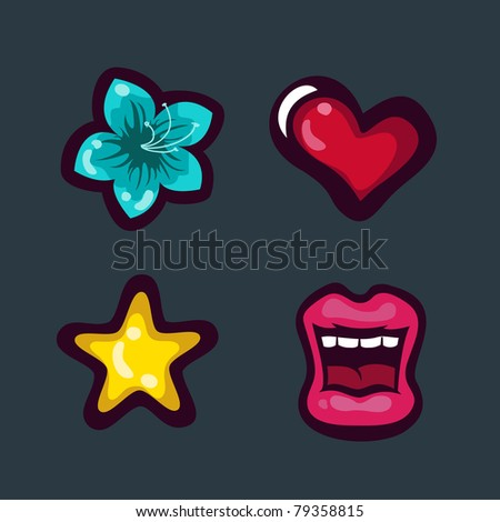 stock vector Tattoo icons