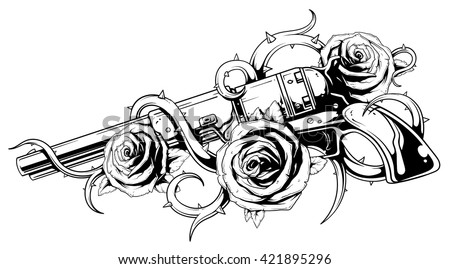 Free Guns And Roses Vector Download Free Vector Art Stock