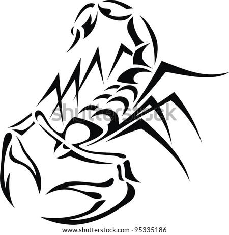 Scorpion Tail Drawing of The Stylized Scorpion