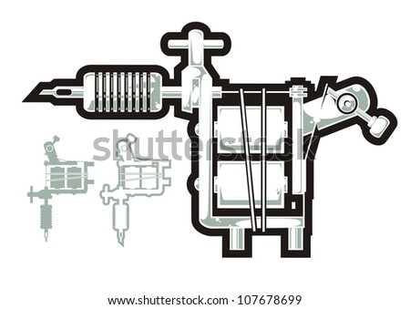 Tatto Machine on Tattoo Machine Stock Vector 107678699   Shutterstock