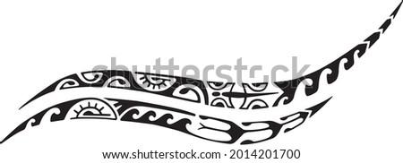 Tattoo Maori design. Ethnic decorative oriental ornament. Art tribal tattoo. Vector sketch of a tattoo Maori.