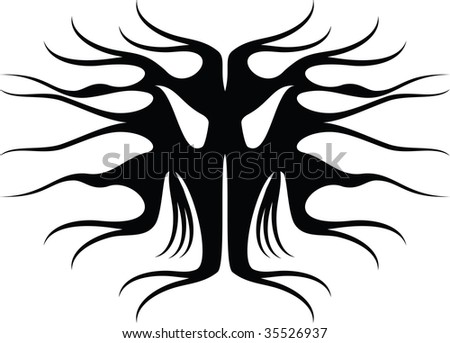 stock vector : tattoo mask 2