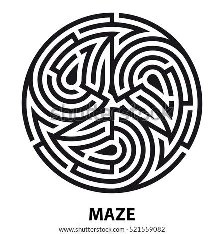 tattoo maze ornament print