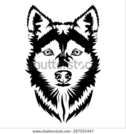 tattoo or sticker of wolf 's