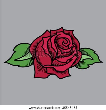 stock vector Tattoo Rose