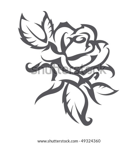tattoos pictures of roses. stock vector : tattoo roses