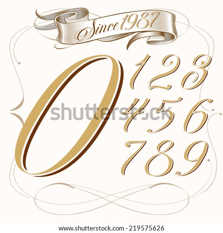 tattoo set of numbers and