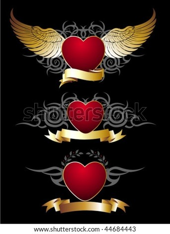 heart tattoos with angel wings. heart tattoos with wings.
