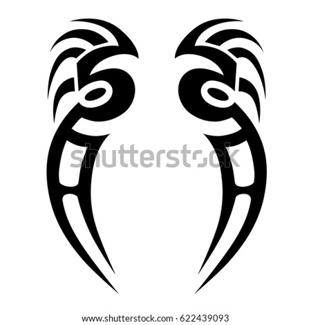 TATTOO sketch tribal vector designs. Man's abstract pattern on the arm and sleeve design.