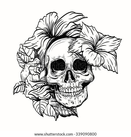 tattoo skull vector