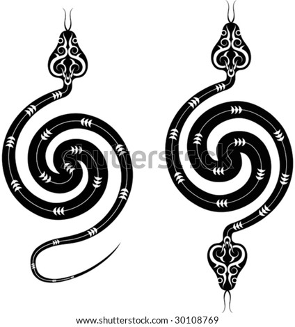 stock vector : Tattoo Snake