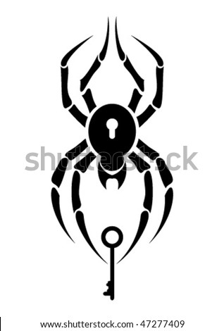 stock vector : Tattoo - spider