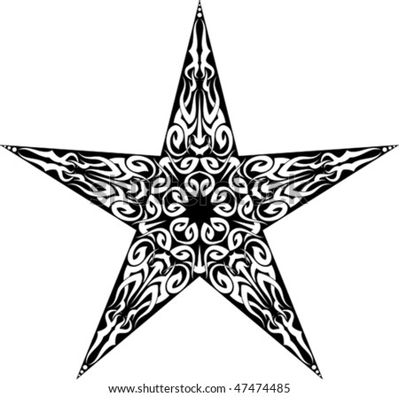stock vector Tattoo Star