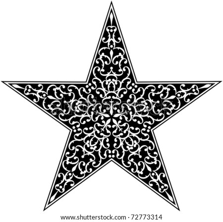 Star shape template download free vector art stock graphics tattoo star black vector shapes pronofoot35fo Images