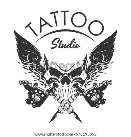 Tattoo studio emblem