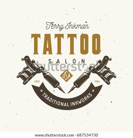 tattoo studio emblem hand