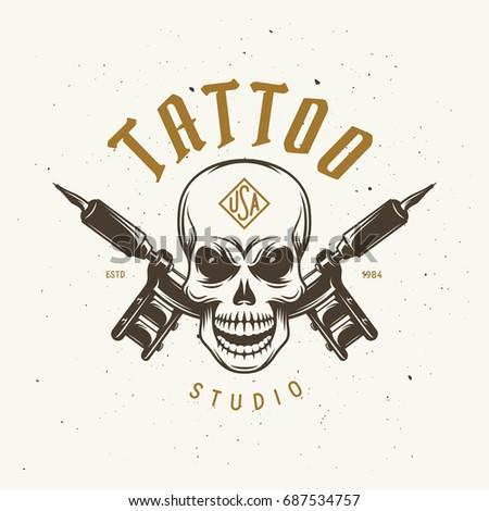 tattoo studio emblem human