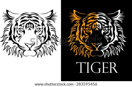 tattoo tiger logotype
