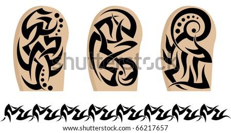 Tattoo tribal armband sleeves stock vector illustration for Vector tattoo sleeve