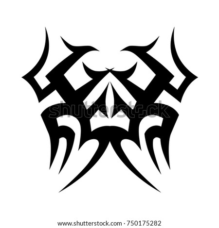 TATTOO TRIBAL DESIGNS. Sketched simple isolated vector. Tattoo design for girl, woman and man. Abstract  tribal tattoo pattern.Vector illustration.