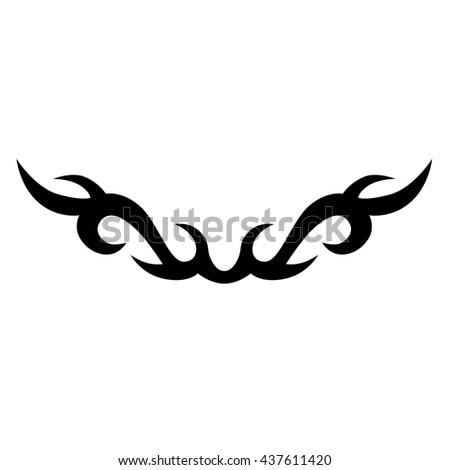 Tattoo tribal lower back vector design. Simple logo. Individual designer isolated element for decorating the body of women and girls waist, back and stomach and other body parts. Abstract illustration