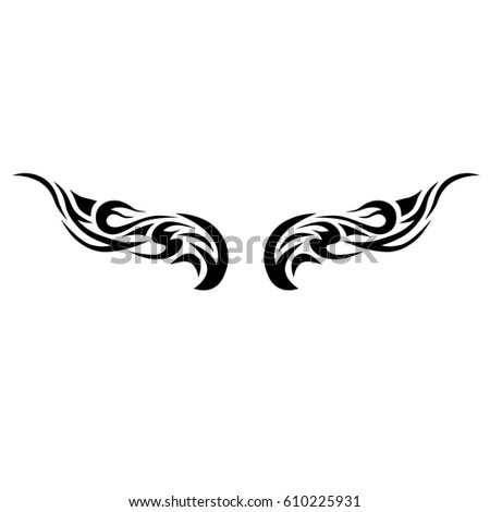 Tattoo Tribal Lower Back Vector Individual Designer Insulated
