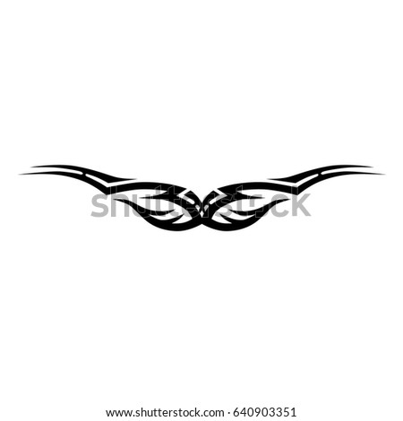 Tattoo tribal lower back vector. Individual designer insulated element for decorating the body of women and girls waist, back and belly and other body parts. Abstract illustration.