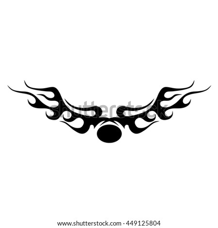 Tattoo tribal lower back vector. Simple logo. Individual designer isolated element for decorating the body of women and girls waist, back and stomach and other body parts. Abstract illustration.