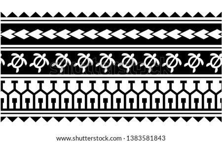 07b97a7c20e36 Tattoo tribal maori pattern, polynesian abstract ornamental aboriginal,  seamless border design vector isolated on