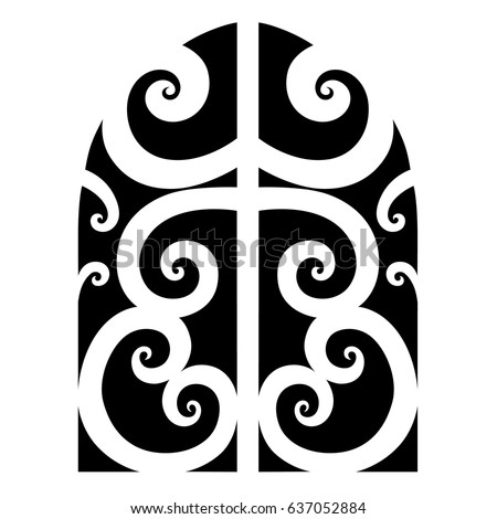 Tattoo tribal maori vector design. Simple logo. Individual designer isolated element for decorating the body of women, men and girls arm, leg and other body parts. Abstract illustration.