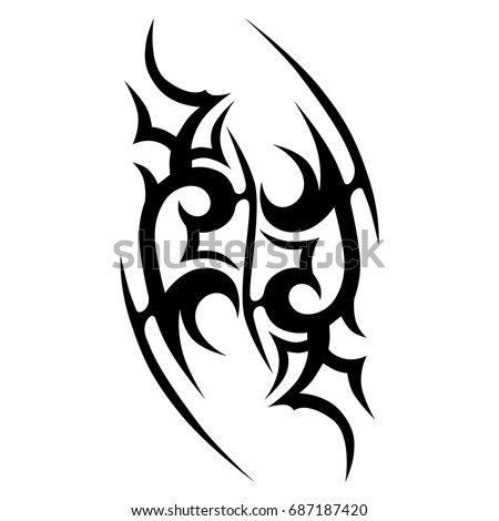 58ac68deca569 Tattoo tribal vector design. Simple logo. Individual designer isolated  element for decorating the body