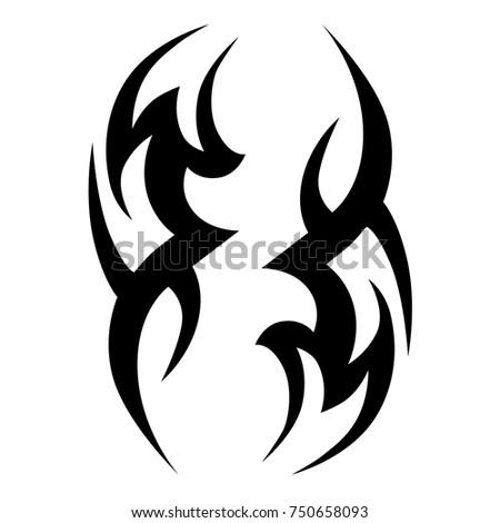 Tattoo Tribal Vector Swirl Design Simple Logo Individual Designer