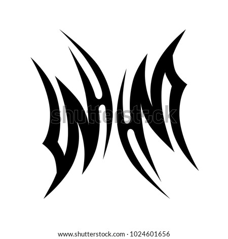 Tattoo tribal vector design. Simple logo. Unique design sketch of tattoo option for men and women. Abstract pattern illustration.