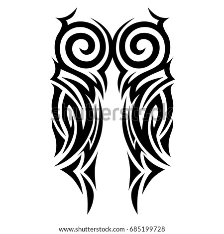 Tattoo tribal vector design. Simple  symbol. Design for men, woman and girl. Abstract  pattern.