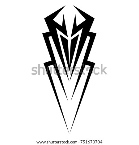 Tattoo tribal vector design. Single sleeve pattern arm. Simple  logo.  Design for men, woman and girl.