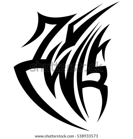 Tattoo tribal vector design. Single sleeve pattern arm. Simple tattoo tribal logo. Tattoo tribal design for men, woman and girl.Vector illustration.