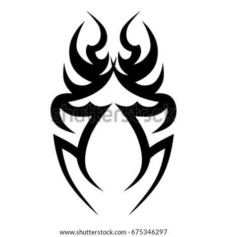 Tattoo tribal vector design. Single sleeve pattern arm. Simple tattoo tribal logo. Tattoo tribal design for men, woman and girl.