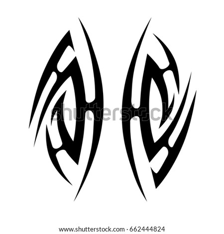 Tattoo tribal vector designs.