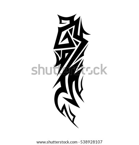 Tattoo tribal vector designs. Cool Tribal tattoos.  Art tribal tattoo. Vector sketch of a tattoo.  Idea for design.
