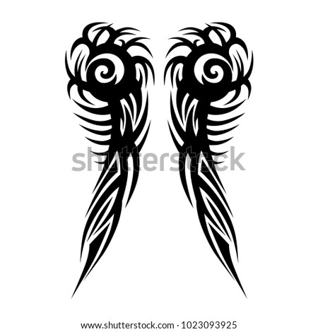 TATTOO tribal vector designs. Man's abstract pattern on the arm and sleeve design.