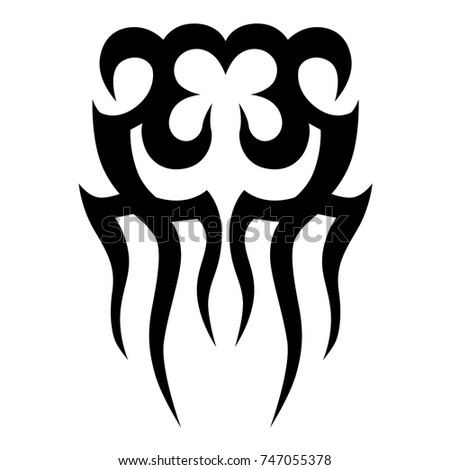 TATTOO TRIBAL VECTOR DESIGNS. Sketched simple isolated vector. Tattoo design for girl, woman and man. Abstract tribal tattoo pattern.