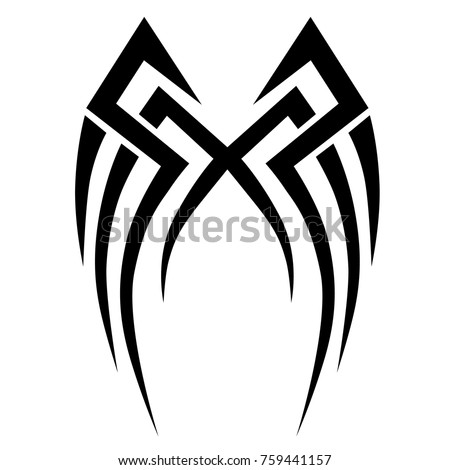 TATTOO TRIBAL VECTOR DESIGNS. Sketched simple isolated vector. Tattoo design for girl, woman and man. Abstract tribal tattoo pattern.Vector illustration.